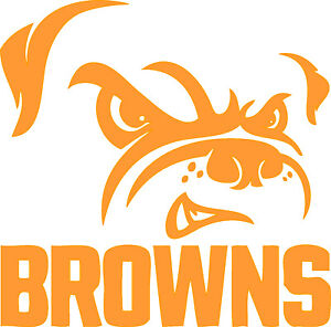"""Cleveland Browns NFL Decal """"Sticker"""" for Car or Truck or Laptop"""