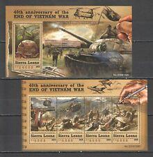 ST568 2015 SIERRA LEONE HISTORY END OF VIETNAM WAR 1KB+1BL MNH STAMPS