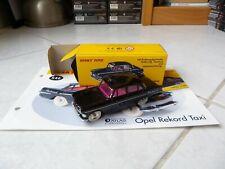 Opel Rekord Taxi 546 Dinky Toys Atlas 1/43 avec boite et fascicule