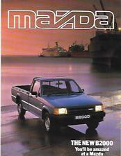 Mazda B2000 Van Camión Folleto comercial de mayo de 1985
