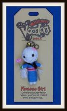KIMONO GIRL ~ GEISHA ELEGANCE CHARM ~ WATCHOVER VOODOO DOLL ~ HANDMADE KEYRING