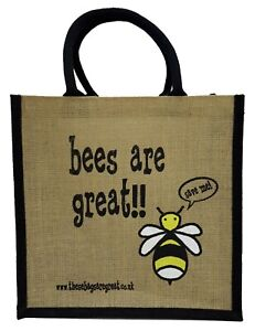 Bees are Great Jute Shopper from These Bags Are Great - Good size bag gift