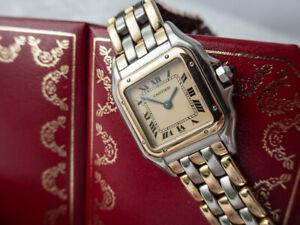 Cartier Panthère Damenuhr 3 Reihen 750er Gelbgold Topzustand!