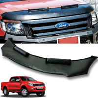 FRONT CAR BRA END MASK MATTE BLACK FIT FOR FORD RANGER T6 MK1 PX1 2012 13 14