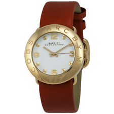 Marc by Marc Jacobs Amy MBM8574 White Dial Brown Leather Women's Watch