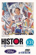 CYCLISME carte cycliste SOREN LIHOLT équipe HISTOR SIGMA