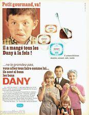 PUBLICITE ADVERTISING 116  1966  les cremes desserts  Dany de Danone