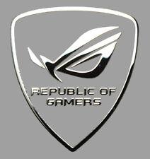 Republic of Gamers matallised autocollant badge logo 27 x 30 mm