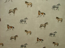 New ListingPrestigious Textiles Stables Linen Cotton Curtain Blind Upholstery Horse Fabric