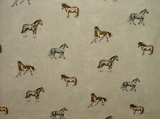 Prestigious Textiles Stables Linen Cotton Curtain Blind Upholstery Horse Fabric