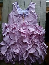 Girls j crew crewcuts collection liliac dress raw cut ruffles silk taffeta  5