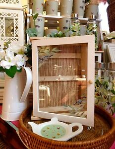 Wooden Olive Grove Bamboo Key Storage Box Free Standing Or Wall Hanging