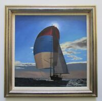 G. Gidley Oil Painting Nautical Sailboat Yacht