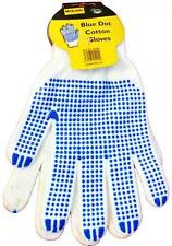 Mechanix 45/294 Blue Dot Grip White Cotton Grip Gloves One Size Fits Most Adult