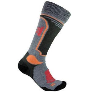 Kids Winter Ski Long Socks Boys Girls Welly Sport Antibacterial Grey 2 sizes