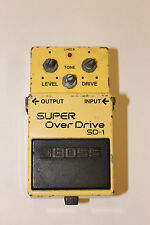 "BOSS Super Overdrive SD-1 ""Made In Japan"" VINTAGE Guitar Pedal RARE ORIGINAL"
