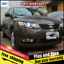 For 2010-2013 Kia Forte Headlights assembly Bi-Xenon Lens Double Beam HID KIT