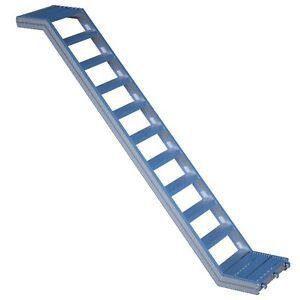 Alu-Treppe mit Podest Rux Frame- / Ringscaff 0,73 m