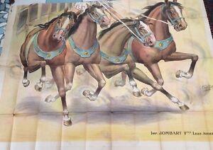 Cavalli . Parte D'Manifesto Litografata cavalli da GUILLET.