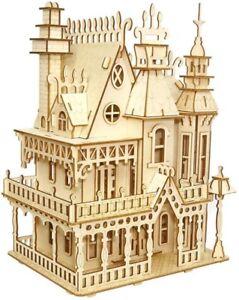 Puzzled Fantasy Villa Wooden 3D Puzzle Construction Kit