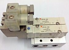 SMC SY5140-5DZ Solenoid Valve 5/2-way 24V DC with Base 8 mmm Push Fit Bank of 2
