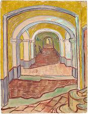 Van Gogh Drawings: Corridor in the Asylum at Saint-Remy - Fine Art Print