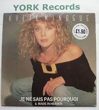 """KYLIE MINOGUE - Je Ne Sais Pas Pourquoi - Excellent Condition 7"""" Single PWL 21"""