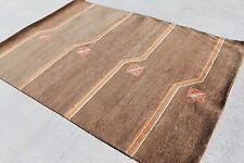 RSG4884 CONTEMPORARY HAND CRAFTED TIBETAN WOOLEN RUG 4.6' X 6.7' MADE IN NEPAL