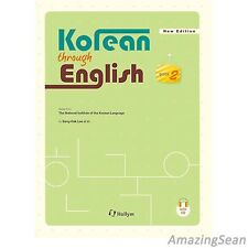 Korean Through English 2 with MP3 CD Learn Korea Text Book Korean Study Book