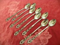 CHANDELIER 8 Iced Tea / Parfait Spoons Oneida Community Stainless USA VERY FINE