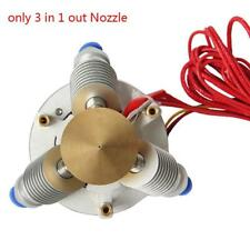3 in 1 out Nozzle Brass Extruder Diamond Hot End for 1.75mm 3D Printer Part