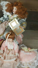 Two Rare Vintage Paradise Galleries Porcelain Dolls. 17 & 10 inches tall. New.