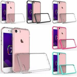 For Apple iPhone SE Hybrid Bumper TPU Slim Hard Back Protective Case Cover