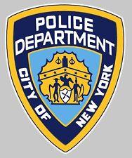 PDNY POLICE STICKER AUTOCOLLANT BLASON USA CITY NEW YORK DEPARTMENT 5cm PA051