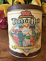 c.1996 Tootsie Roll Candy Tin Can Advertising; 100th Anniversary;Limited Edition