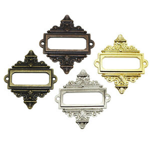 4Pcs Office Cabinet Card Tag Label Holder Metal Lace Frame High Quality