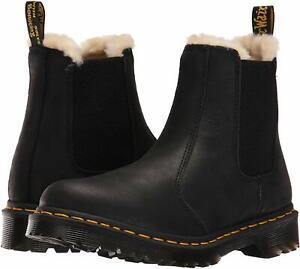Women's Shoes Dr. Martens 2976 LEONORE Leather Chelsea Boots 21045001 BLACK
