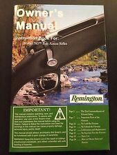 factory original Remington 783 Bolt Action rifle owners manual 270 30/06 ect