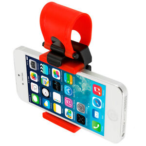 Universal Car Steering Wheel Bike Clip Mount Holder For Phones iPod