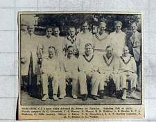 1949 Worthing Cricket Club Team Photograph, Greenfield, Harvey, Watkins, Etc