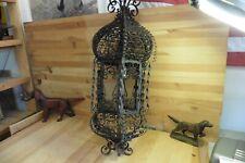 Vintage lamp handmade Wrought iron rusted Steampunk gothic gypsy arabian 27x9