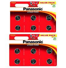 GENUINE 12X PANASONIC CR2032 3V LITHIUM COIN CELL BATTERY DL2032 BR2032