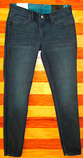NEW BCBGeneration REVERSIBLE DARK BLUE TEAL GREEN JEANS SKINNY SIZE 27 NWT $128