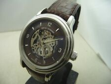 REVUE THOMMEN  MANUFACTURE STEEL WATCH SKELETON DIAL AUTOM- NEW BOX & PAPERS
