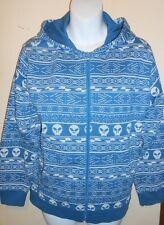 Old Navy Boys Long Sleeve Skull Hoodie Sweatshirt Blue M/8 NWT