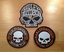 Lot 3 Patch HD Ecusson Harley Davidson biker