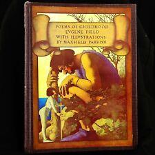Poems Of Childhood (1955) by Eugene Field Maxfield Parrish Illus. HCDJ Good