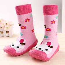 Infant Baby Girls Boys Soft Long Socks Shoes Prewalker Anti-slip Boots Slippers