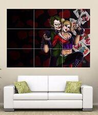 El Guasón & Harley Quinn gigante Sección Pared Arte Cartel 260gsm