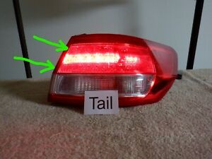 2010-2012 Lincoln MKZ Right RH Tail Light Outer Quarter Panel Mounted